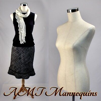 Female mannequin dressform+stand+1black nylon cover, pinnable linen torso-MPM88