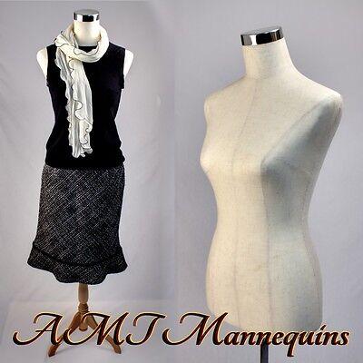 Female Mannequin Dressformstand1black Nylon Cover Pinnable Linen Torso-mpm88