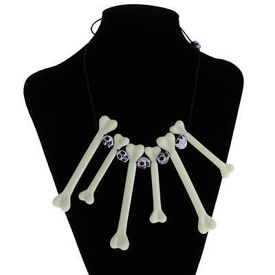 Unisex Skull Bone Jewellery Necklace Halloween Caveman Fancy Dress Accessory - Caveman Bone Necklace