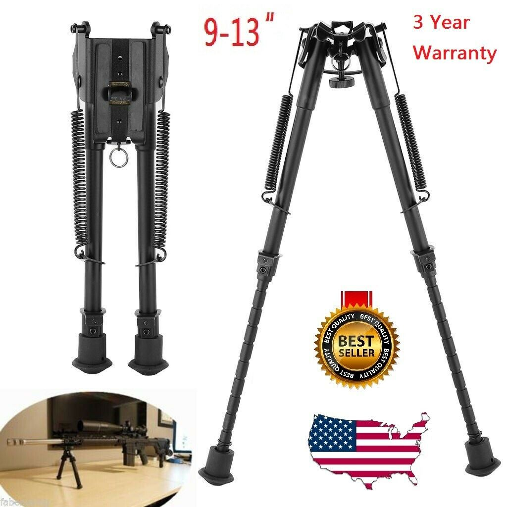 "9"" To 13"" Adjustable Spring Return Sniper Hunting Rifle Bipo"