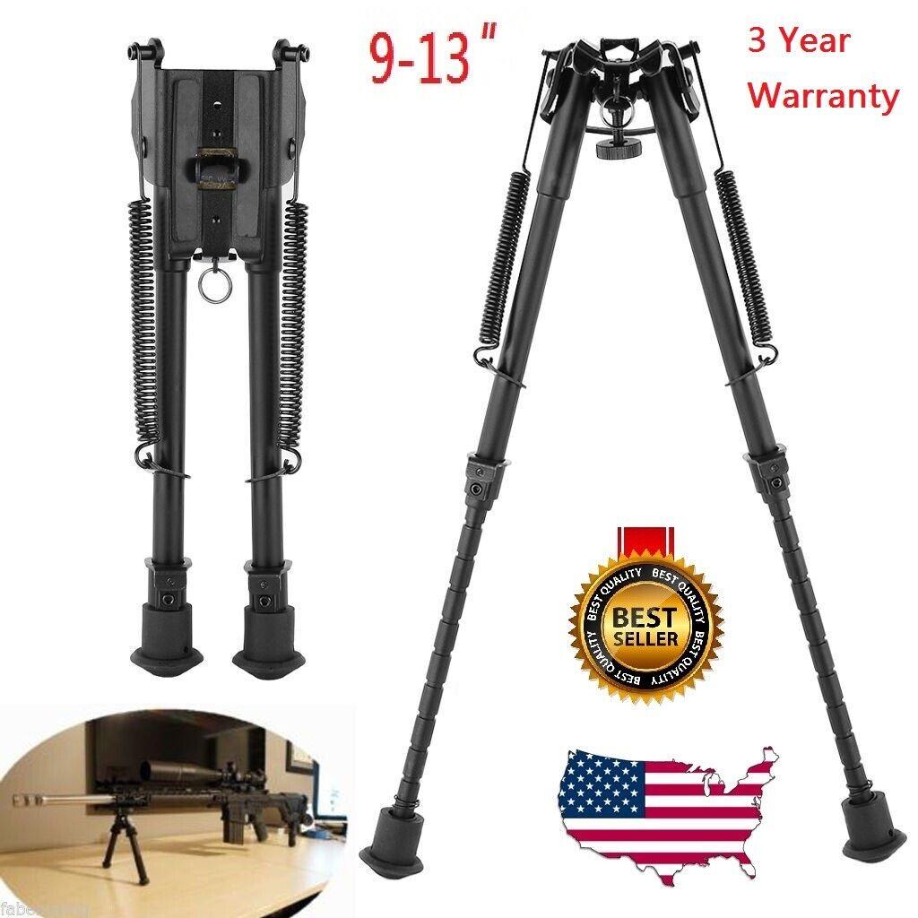 "9"" To 13"" Adjustable Spring Return Sniper Hunting Rifle Bipo"
