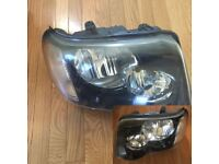 Left hand drive type headlights Freelander I facelift 2004 2005 2006 LHD