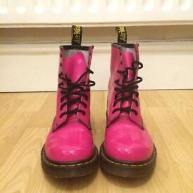 U.K. 6 Airwair Doc Martens Patent Pink Boots