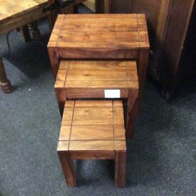 Fruitwood nest of tables