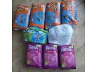 Swim nappies, pull ups and some free nappies