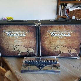 """TRADE OR SALE: Taurus SL-4 valve stomp head + two 12"""" cabs with Jensens"""