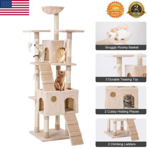 68Kitten Cat Tree Tower Condo Furniture Scratching Kitty Pet