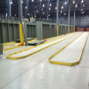 Steel guard rails for floor. Great for guide rail in warehouses, help protect your rack.
