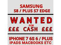WANTED IPHONE 7 / PLUS 6S 6 SE SAMSUNG S8 +S7 EDGE XBOX ONE PS4 VR IPAD pro MACBOOK AIR mini