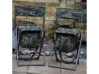 2 Smokey Branch outdoor camo chairs
