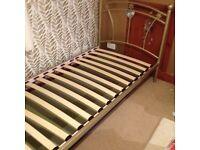 single bed frame - metal - gold - girls