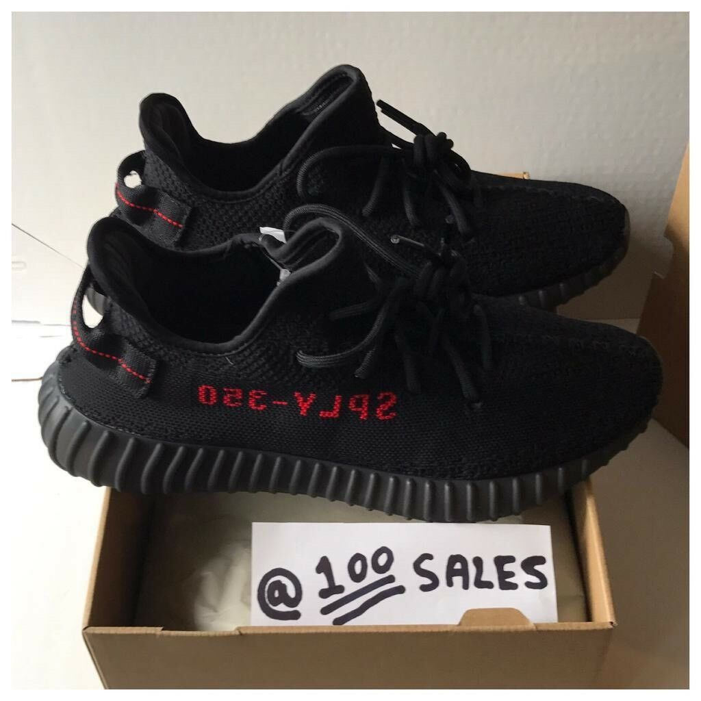 912e16f77 Adidas x Kanye West Yeezy Boost 350 V2 Black Red UK10 US10.5 EU44 2 3  CP9652 +SIZE  RECEIPT 100sales