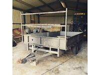 Ifor Williams twin Axle 16ft trailer with ladder rack.