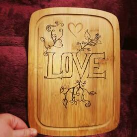 Pyrographed Chopping Board homemade design