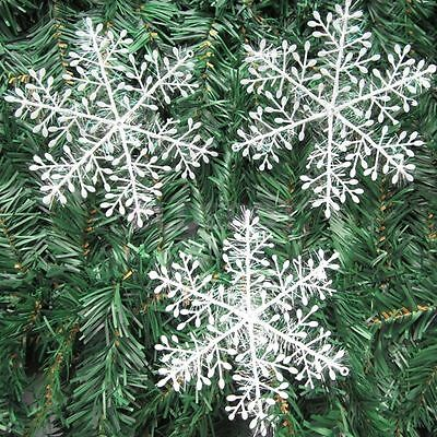 18Pcs Classic White Snowflake Ornaments Christmas Holiday Party Home Decor  - Snowflake Decor