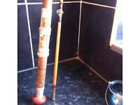 Eight foot fishing rod