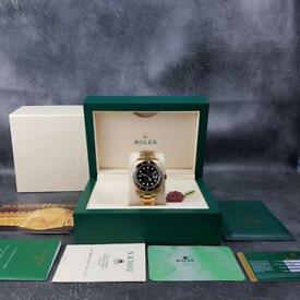 Rolex Submariner Gold Black Face - Complete Set Box And Papers 1 Year Free Warranty