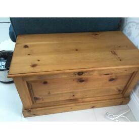 Pine storage / blanket box / chest