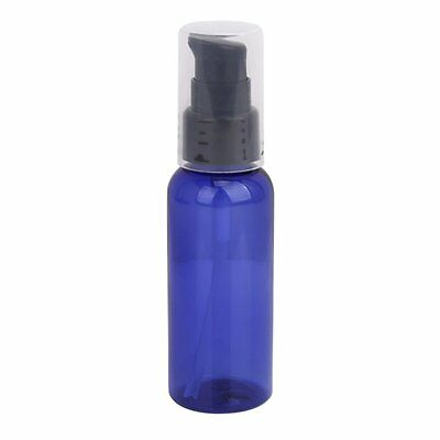 3 x 50ML Refillable Lotion Cream Treatment Pump Bottle with Cap - Blue and Black