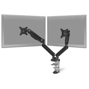 Insignia NS-PGSMM6220-C Dual Arm Full Motion Monitor Mount Black