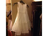 White lace childs dress by next in good condition