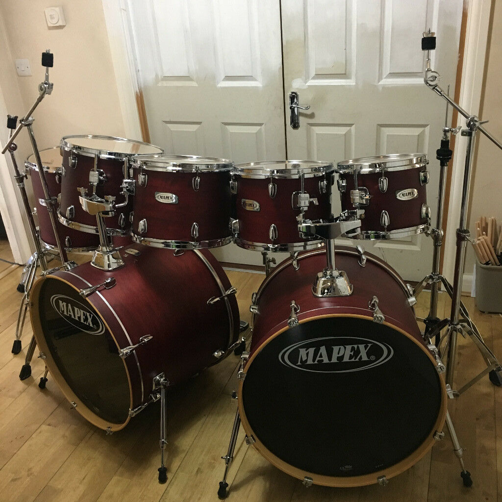 fully refurbished 9 piece double bass drum mapex v series drum kit in reading berkshire gumtree. Black Bedroom Furniture Sets. Home Design Ideas
