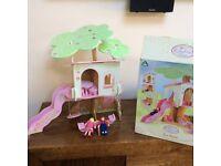 Elc rosebud wooden dolls house tree house boxed