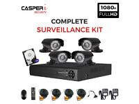HD 4CH DVR 2.0MP 1080p Black Bullet Cameras IR 25m Waterproof CCTV Security kit