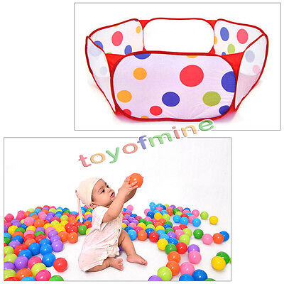 Portable Foldable Kids Child Ocean Ball Pool Outdoor Indoor Game Play Toy Tent