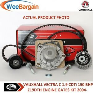 VAUXHALL VECTRA C 1.9 CDTi 150BHP Z19DTH GATES Timing Cam Belt Water Pump Kit