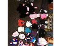 Job lot 144 pieces men's gloves demands and kids to also hats men's and kids