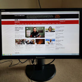 "Lenovo Thinkvision T2324P 23"" Monitor 1080P USB 3.0 HDMI"