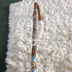 Walking stick, 15 odd badges, please do have a look.