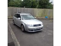 Audi A4 Avant 2.5 V6 automatic estate silver, van roof rack, very useful car, strong engine