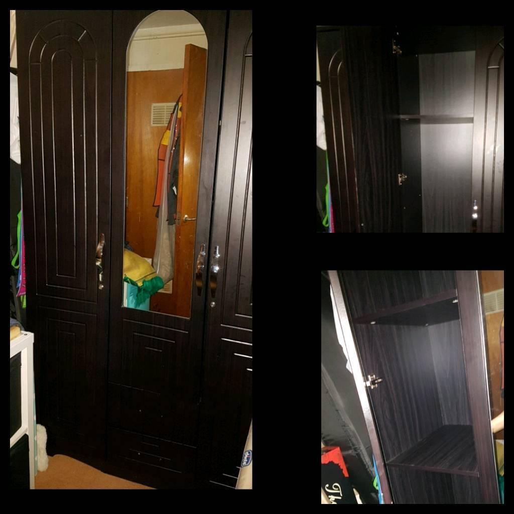 dark brown wardrobe