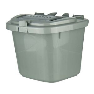 silver grey kitchen compost caddy bin food recycling 5. Black Bedroom Furniture Sets. Home Design Ideas