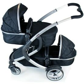 I safe double pushchair