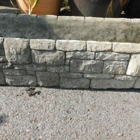 stone patetrn cement trough
