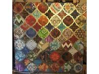 Large multicoloured canvas