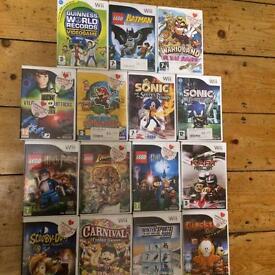 15 Wii games Lego Batman,Harry Potter, Scooby Doo,Super Mario,Sonic more