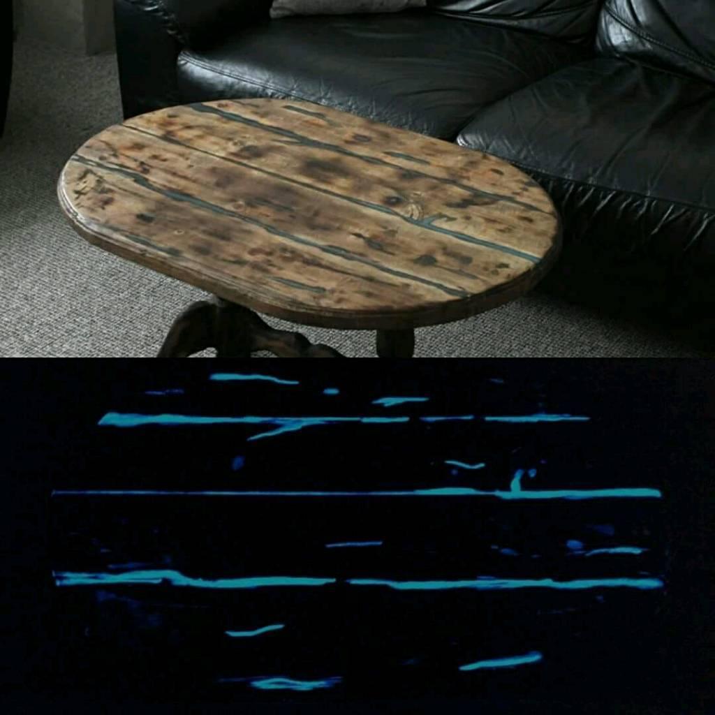 coffee table (glow in the dark)