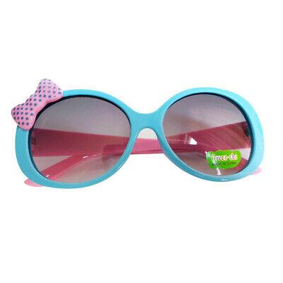 Baby Retro Rundbrille UV400 Sonnenbrille Sommer Goggle Sportbrille Blau+Rosa