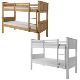🔴MASSIVE SAVING🔵Kids Bed Single Wooden Bunk Bed In Multi Colors With Optional Mattress