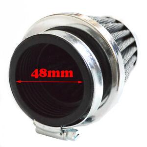 48mm Motorcycle Intake Air Pod Filter Cleaner For Honda Yamaha Kawasaki Suzuki