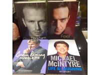 Hard Back Autobiography Books ( New )