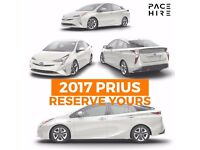 Toyota Prius 2017 plate Reserve now for Uber Hire, coming march
