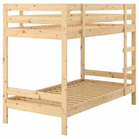 Ikea Wooden Bunk Beds and Mattresses Excellent Condition