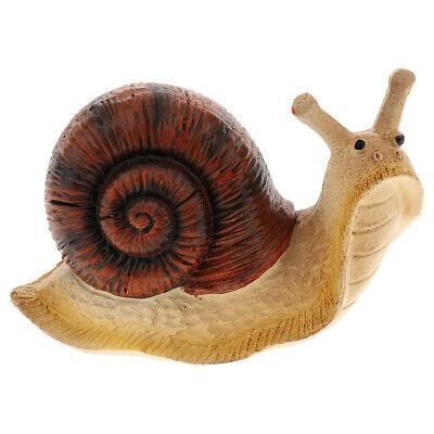 Garden Snail Statue Animal Figurine Ornament for Tree, Home,Table, Desktop ()