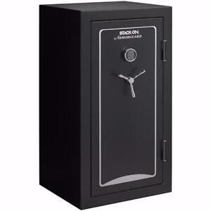 NEW Stack-On A-40-MB-E-S Armorguard 40-Gun Safe with Electronic Lock, Matte Black