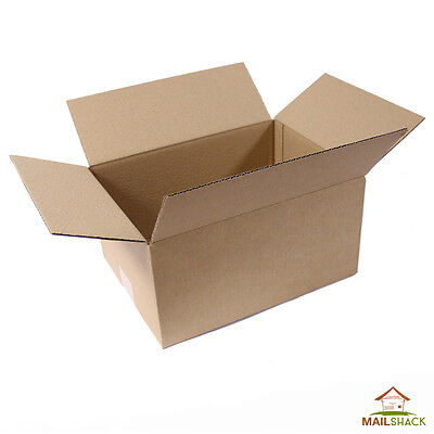 25 STRONG SINGLE WALL CARDBOARD BOXES 12 x 9 x 6